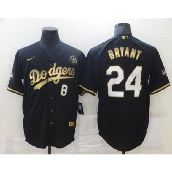 Shirts | La Dodgers Kobe Bryant Black Gold Jersey | Poshmark